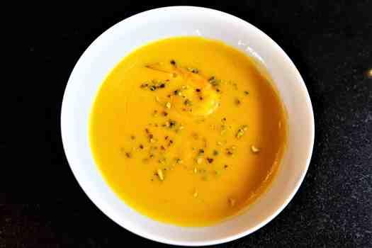 image-of-pumpkin-soup-at restaurant-in-phuket-thailand