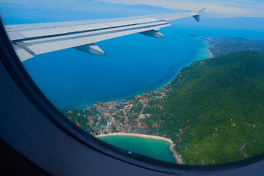 image-of-koh-samui-from-airplane-window