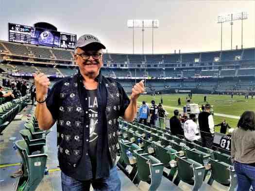 Raider fans at the Oakland Coliseum