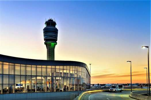 Atlanta-Hartsfield-Jackson-International-Airport-at-sunset