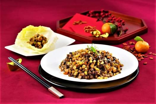 Chinese New Year dish at Ming Court restaurant in Kowloon