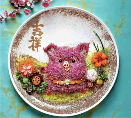 Piggie-edition-yusheng-symbolizing-good-fortune