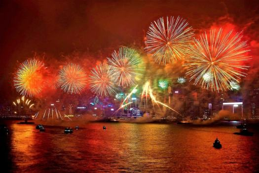 Victoria-Harbour-fireworks-from-Kowlon