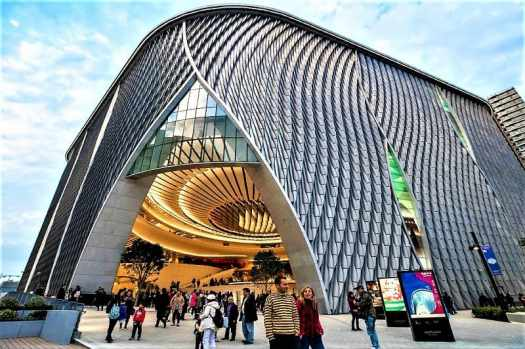 entrance-of-xiqu-centre-chinese-opera-performance-theatre-in-hong-kong