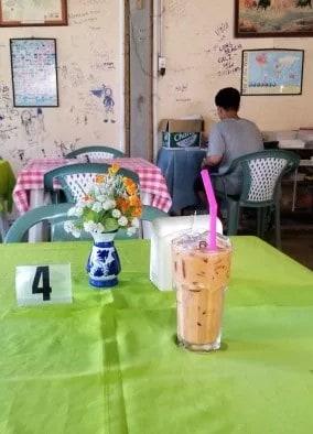 Iced milk tea at sea beach bar and restaurant (3)