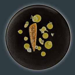 aviation-air-france- Guinea fowl with turnips