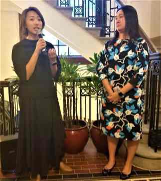 Sarah Mui (left) and Winnie Yeung