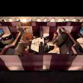 aviation-qatar-Qsuite - Quad Family Dining