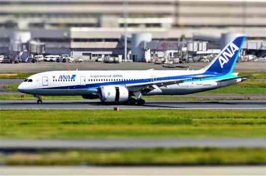 Airplane at Tokyo Haneda Airport