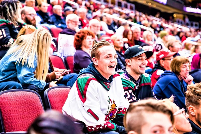 ice-hockey-fans-watching-Arizona-Coyotes-game