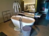 Free-standing bathtub. Photo Credit: Accidental Travel Writer.