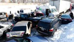 car accidents caused by the snow and ice