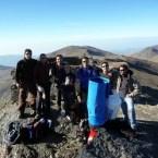 Refugio Elorrieta: Acción 2, lona colocada en el aljibe
