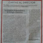 """Carta al Director de """"Ideal"""" y 3 vídeos sobre la Cadena Humana al Refugio Elorrieta"""