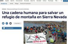 La II Cadena Humana al Refugio Elorrieta en los medios de comunicación
