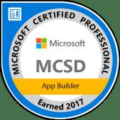 MCSD: App Builder — Certified 2017