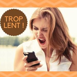 site mobile trop lent