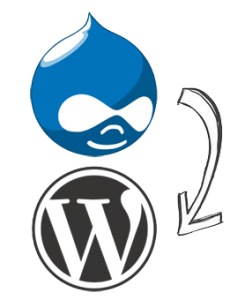 migration drupal vers wordpress