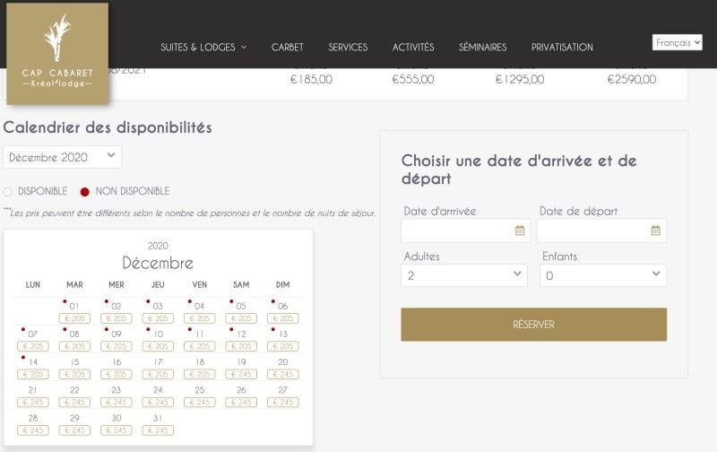 Site Internet pour Hotel