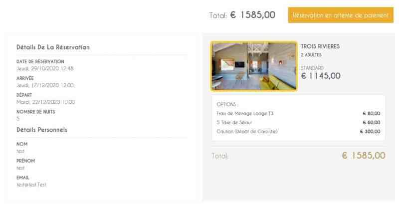 Création de site web pour location de Villa 4