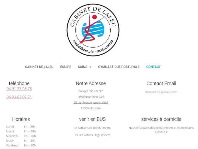 Création de site web pour kinésithérapeute