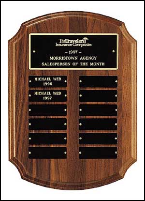 Walnut Recognition Plaque