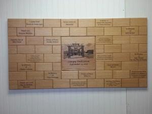 Church Donor Wall