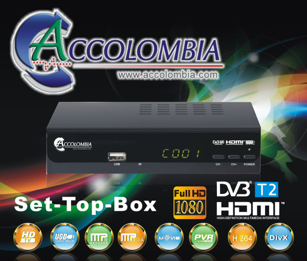 Decodificador DVB-T2 HD Modelo T-0322 TDT Colombia6
