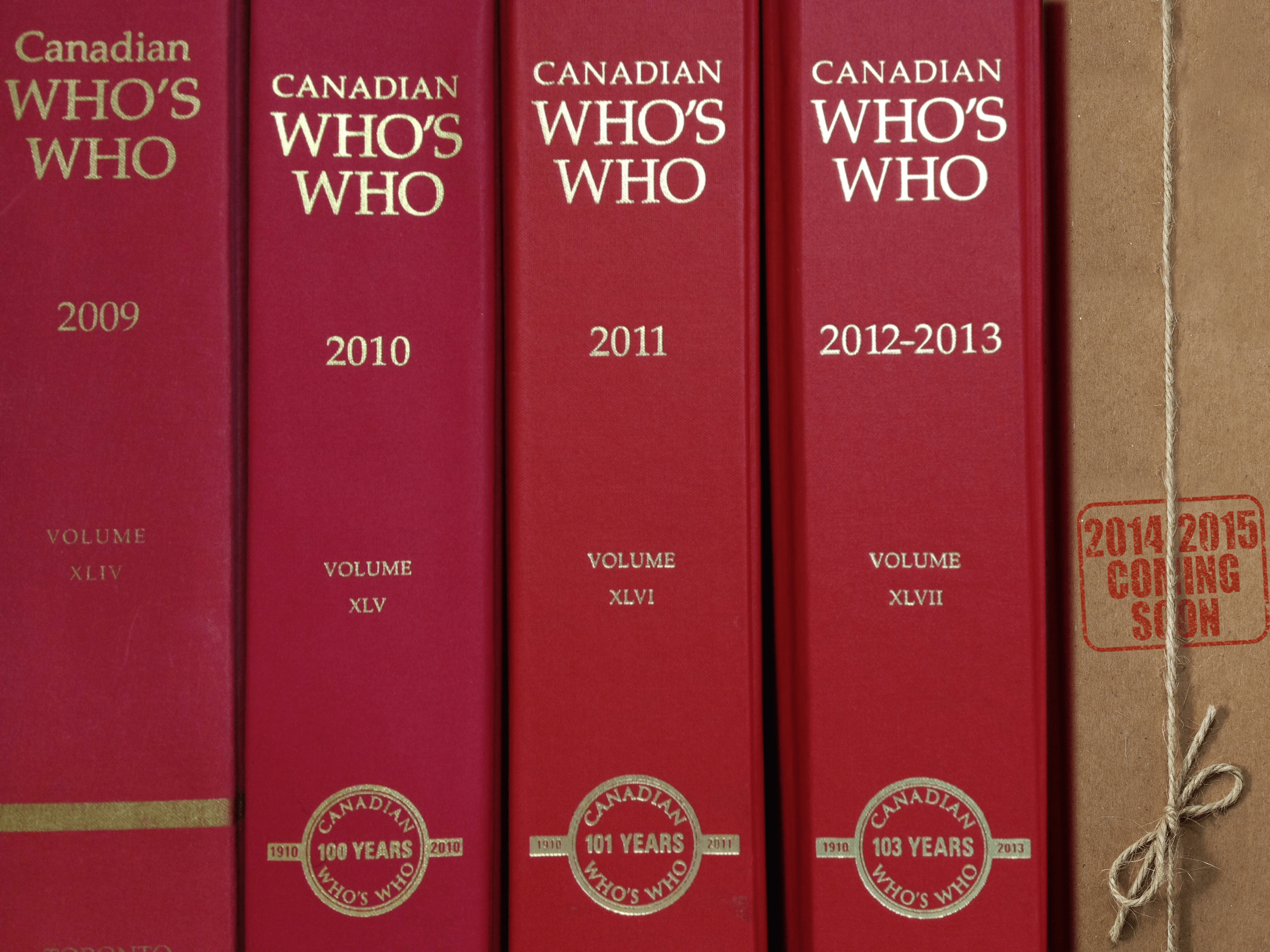 Canadian Who's Who: Coming Soon