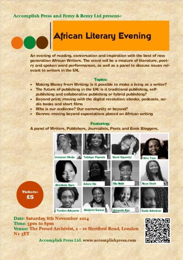 Flyer African Literary Evening