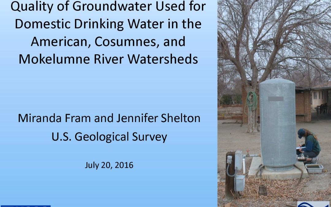 USGS Groundwater Monitoring Project – Presentation