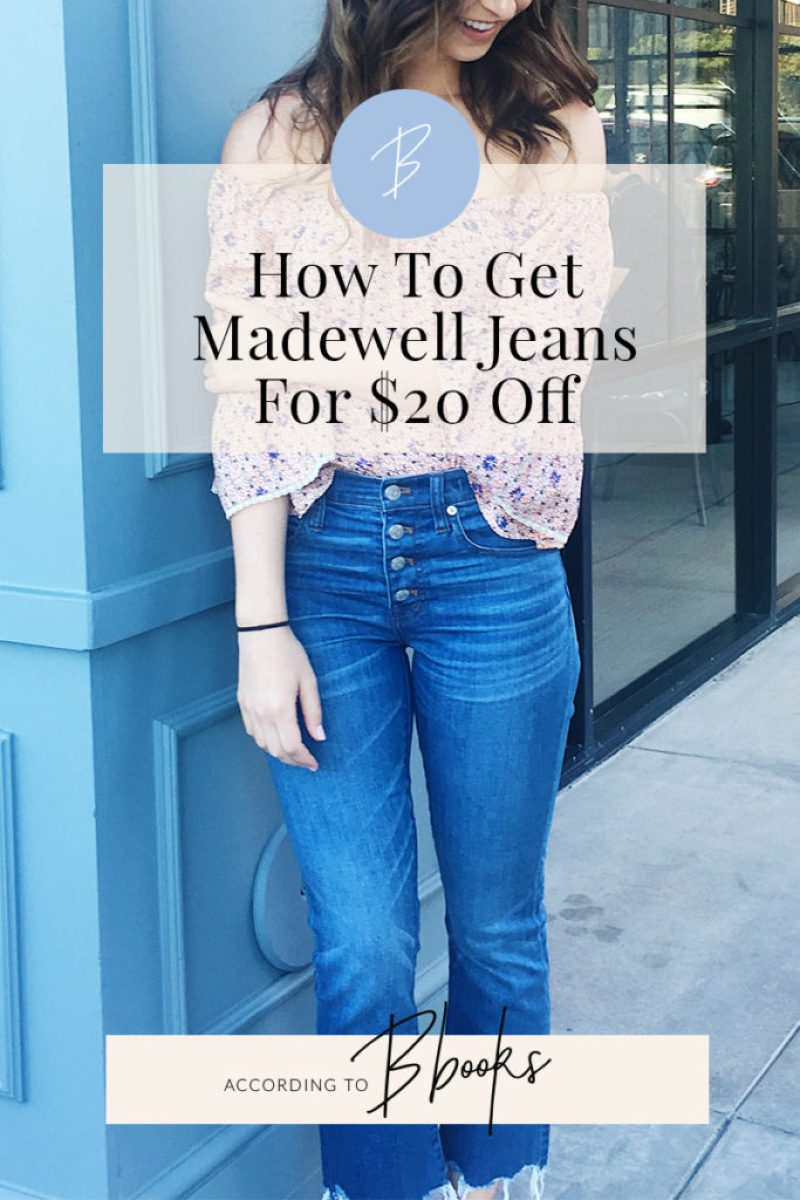 According To Bbooks | My trick to getting every new pair of Madewell jeans I buy for $20 off! It's the perfect opportunity to clear space in your closet and help the community!