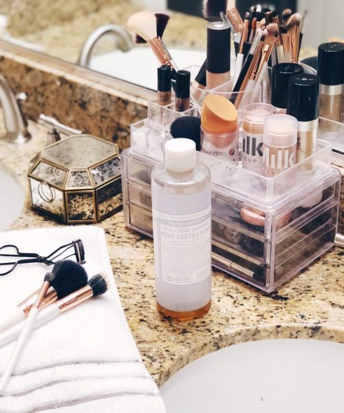 The Cheapest Way to Clean Makeup Brushes using Dr. Bronner's Castile Soap