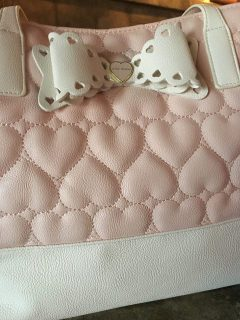 pink betsey johnson purse
