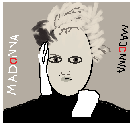 Madonna as an appalling MS Paint image