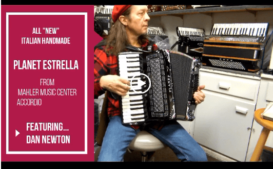 Mahler Music Center I New Lightweight Piano Accordion I Planet Estrella