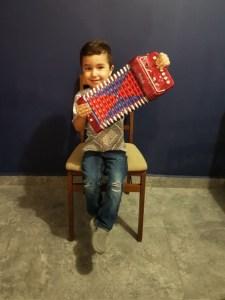 Antonio's Son enjoying a small diatonic.