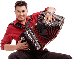 Antonio Tanguma Jr. playing diatonic accordion.