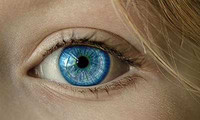 The human eye is very visual.