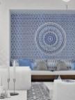Blue Moroccan Wall - deavita.fr