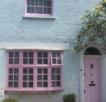 Pink Front Door - Myvintagecottage Instagram