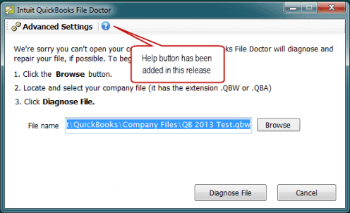 QuickBooks File Doctor Tool - Repair Damaged Company File
