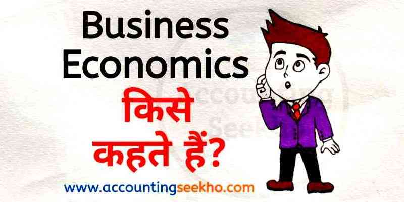 what is business economics by accounting seekho