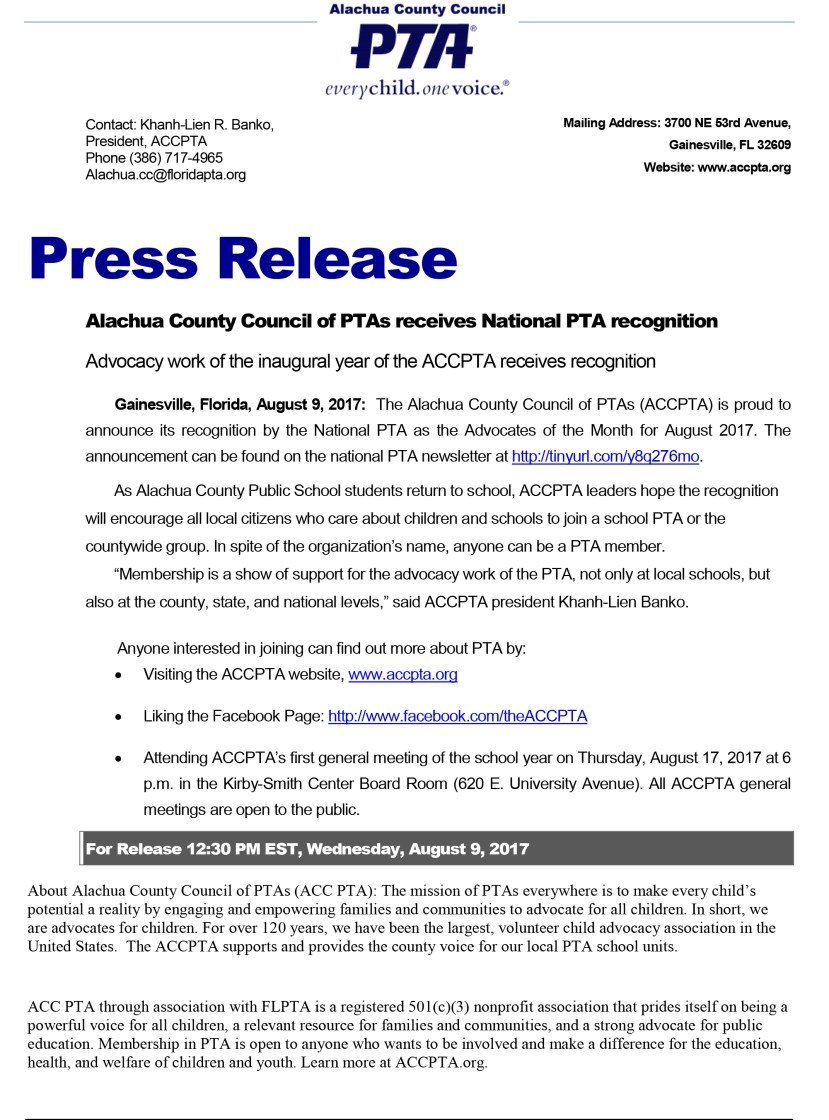 Press release (Professional design)
