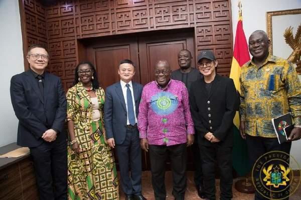 Ban Ki-Moon, Jack Ma, Jet Li visit Akufo-Addo