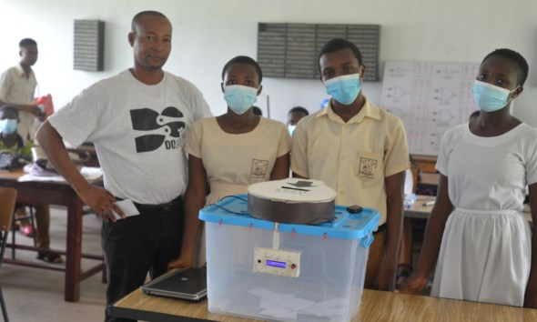 Obuasi SHS students build a Smart Ballot Box that stops multiple voting