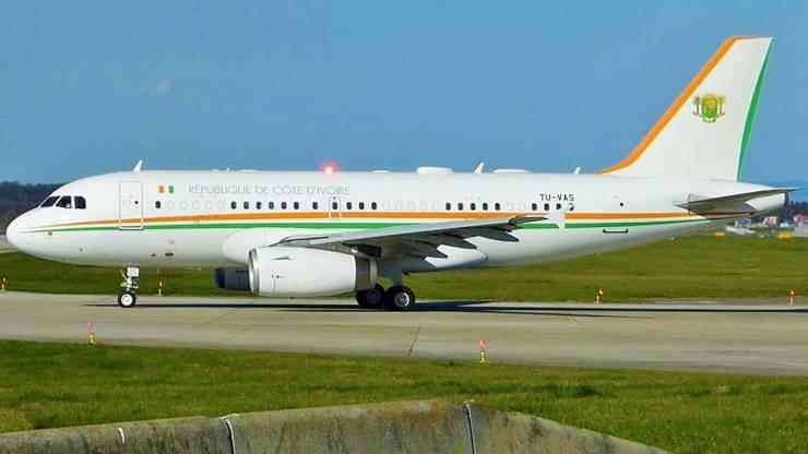 President of Cote D'Ivoire's jet
