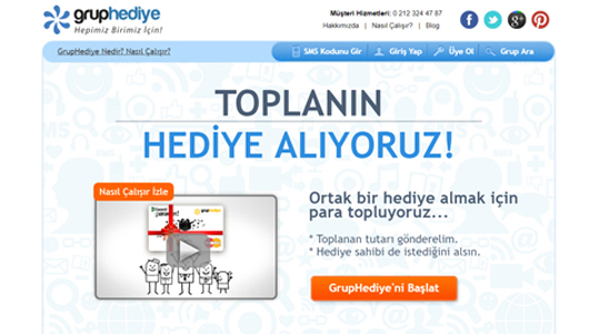 gruphediye web application thumbnail link to gruphediye.com