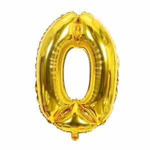 ballon chiffre doré numéro 0