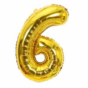 Ballon chiffre 6 ans